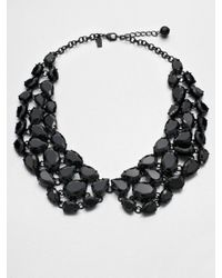 kate spade new york - Black Faceted Collar Necklace - Lyst
