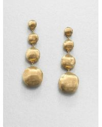 Marco Bicego | Metallic Africa 18k Yellow Gold Four-ball Drop Earrings | Lyst