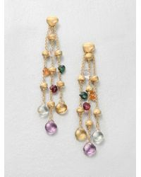 Marco Bicego | Multicolor Semi precious Multistone Multistrand 18k Gold Earrings | Lyst