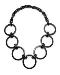 Pono - Black Opaline Circle Necklace - Lyst