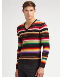 Ralph Lauren Black Label | Multicolor Serape V-neck Sweater for Men | Lyst