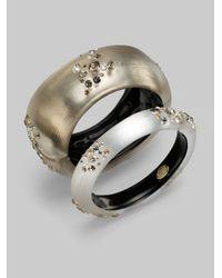 Alexis Bittar - Metallic Champagne Dust Crystal Small Bracelet - Lyst