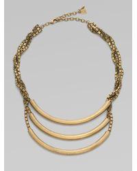DANNIJO - Metallic Brass Triple Bar Necklace - Lyst