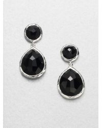 Ippolita | Black Onyx Sterling Silver Snowman Drop Earrings | Lyst