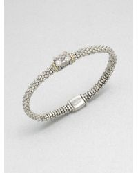 Lagos | Metallic Sterling Silver Caviar Rope Bracelet With 18k Gold | Lyst