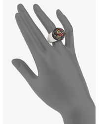 M.c.l  Matthew Campbell Laurenza | Metallic Multicolored Sapphire & Sterling Silver Flower Pot Ring | Lyst