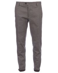 Milano Parigi - Gray Cropped Patterned Trouser for Men - Lyst