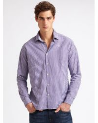Scotch & Soda | Purple Gingham Shirt for Men | Lyst