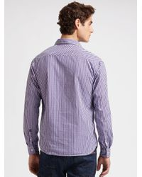 Scotch & Soda | Purple Gingham Shirt for Men | Lyst