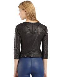 Catherine Malandrino - Black Leather Stud Detail Jacket - Lyst