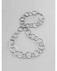 Kenneth Jay Lane - Metallic Circle Link Necklace - Lyst