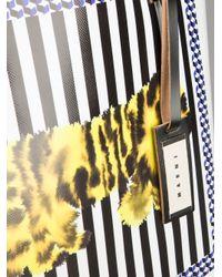 Marni - White Tiger Print Tote - Lyst
