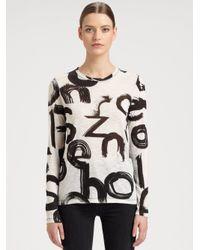 Proenza Schouler - Black Brushstroke Logo-Print T-Shirt - Lyst