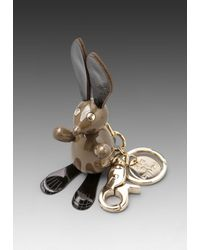 See By Chloé | Gray Bunny Key Chain in Taupe | Lyst