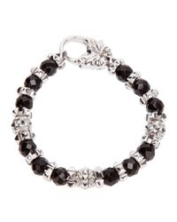 Stephen Webster - Metallic Silver Onxy Bracelet for Men - Lyst