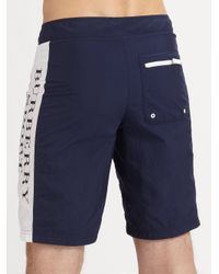Burberry Sport - Blue Swim Trunks for Men - Lyst