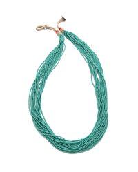 Chan Luu - Blue Multi Strand Beaded Necklace - Lyst