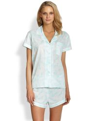 Cottonista - Blue Shortie Pajama Set - Lyst