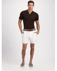 Dolce & Gabbana - Brown Henley Polo for Men - Lyst