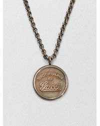 Gucci | Metallic Gg Craft Necklace for Men | Lyst
