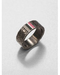Gucci | Metallic Sterling Silver Ring for Men | Lyst