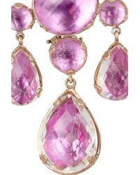 Larkspur & Hawk   Purple Haley 22karat Rose Golddipped Topaz Chandelier Earrings   Lyst