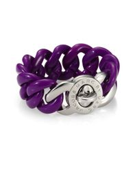 Marc By Marc Jacobs | Purple Small Candy Turnlock Chain Bracelet | Lyst