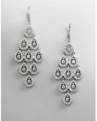 Nadri | Metallic Silvertone Tiered Waterfall Earrings | Lyst