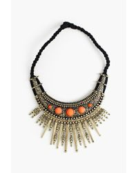 Nasty Gal - Black Iron Sunburst Necklace - Lyst