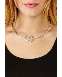 Nasty Gal - Metallic Pentagram Collar Necklace - Lyst