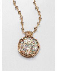Stephen Dweck - Metallic Abalone Rock Crystal Smoky Topaz Pendant Necklace - Lyst