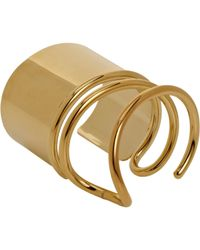 Balenciaga - Metallic Golden Thick Wrapped Cuff - Lyst