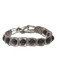 Emanuele Bicocchi | Black Onyx Silver Bracelet | Lyst
