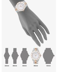 Marc By Marc Jacobs - Metallic Blade Rose Goldplated and Clear Link Bracelet Watch - Lyst