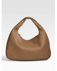 Bottega Veneta | Brown Veneta Medium Woven Leather Hobo | Lyst