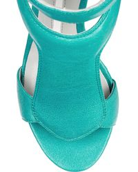 Camilla Skovgaard | Blue 120mm Leather Sandal Wedges | Lyst