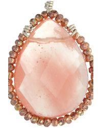 Chan Luu - Pink Silver Cherry Quartz Earrings - Lyst