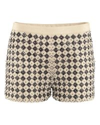 H&M | White Shorts with Beaded Embroidery | Lyst