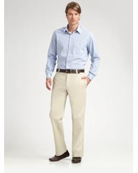 Lacoste | Natural Classic Chinos for Men | Lyst