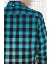 Lacoste - Blue Check Shirt for Men - Lyst