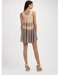 Marc By Marc Jacobs - Gray Simone Stripe Mini Dress - Lyst