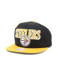 2a46181b4c419 Mitchell   Ness. Women s Metallic The Pittsburgh Steelers Laser Stitch  Snapback ...