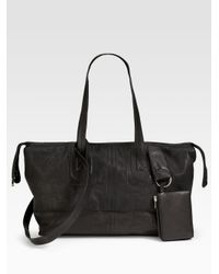 Rick Owens | Black Large East/west Leather Tote | Lyst