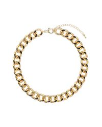 TOPSHOP - Metallic Thick Chunky Chain Collar - Lyst