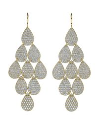 Irene Neuwirth - Yellow Pave Diamond Gold Ninedrop Earrings - Lyst