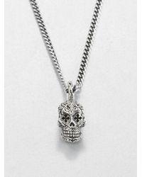 King Baby Studio - Metallic Dead Skull Pendant Necklace for Men - Lyst