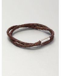 Tateossian - Brown Silver Pop Scoubidou Bracelet - Lyst