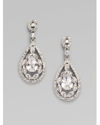 Adriana Orsini | Metallic Double-wrapped Teardrop Earrings | Lyst