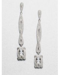 Adriana Orsini | Metallic Pavé Linear Drop Earrings | Lyst