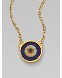 Gurhan - Blue 24k Gold Evil Eye Pendant Necklace - Lyst